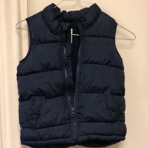Old navy navy blue puffer vest